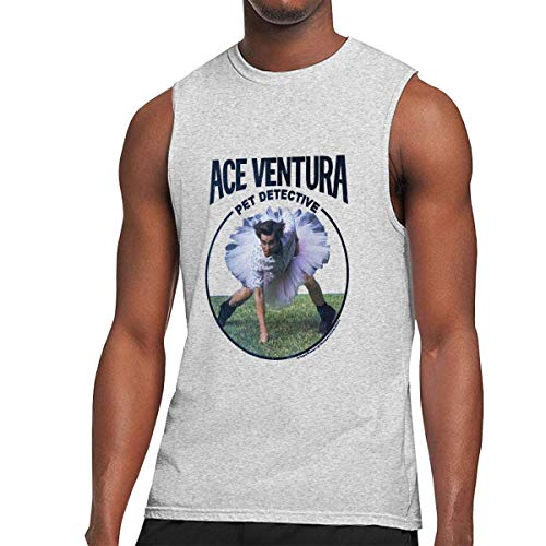 WLQP Camiseta sin Mangas para Hombre Men's Ace Ventura Sleeveless Muscle Shirts Workout Gym Running Tank Top