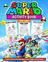 Super Mario Activity Book: Super Mario Activity Book For Kids: Stunning World Of Coloring, Complete The Picture, Maze Game, Word Search And More