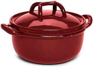 Modern Enameled Cast Iron Dutch Oven Casserole Dish 5.5 Quart Red Casserole dish Serving dishes casserole dish with lid Ba...