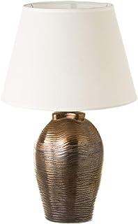 Lámpara de salón clásica de cerámica color cobre, de ø 30x48 cm - LOLAhome