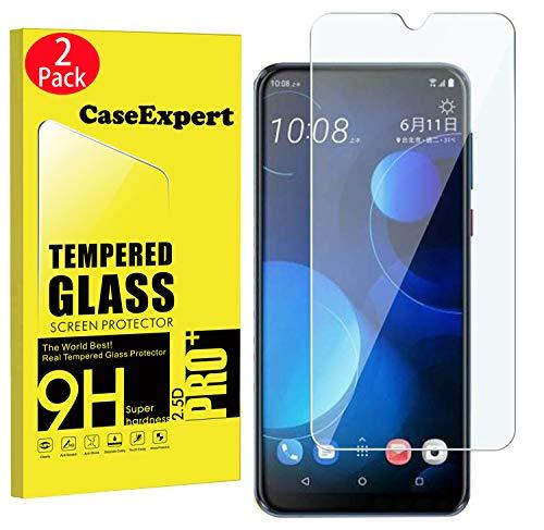 CaseExpert 2 Pack - HTC Desire 19+ Panzerglas, Gehärtetem Schutzfolie Glasfolie Hartglas Panzerfolie Displayschutzfolie Für HTC Desire 19+ / Desire 19 Plus