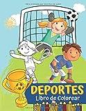 Deportes Libro de Colorear: para Niños, 4-9 años