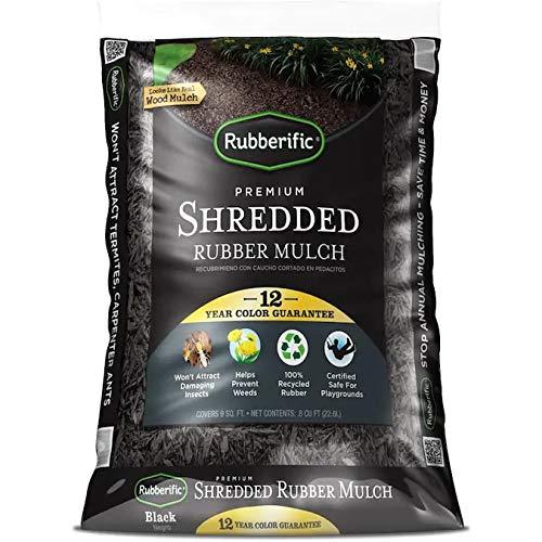 Rubberific 0.8 cu ft Shredded Rubber Mulch (Black) -  IMC Outdoor Living, LRM8BK