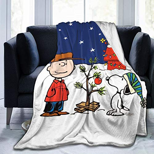 KASSD Christmas Blanket Christmas Decorations Cute Snoopy Throw Blanket Ultra Soft Micro Fleece Blanket Warm Throws (50'x40')