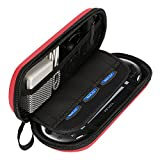 AKWOX Waterproof Travel Carrying Protectove Case for PS Vita 1000, PSV 2000 with 8 Game Holders (Red)