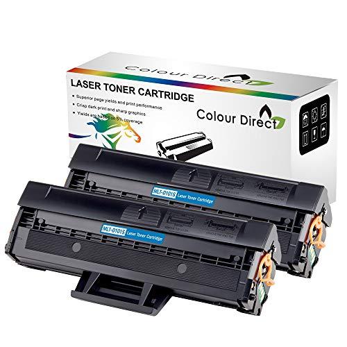 Colour Direct 2 X Kompatibel Tonerkartusche Ersatz für Samsung MLT-D101S ML-2160 ML-2165W ML-2168 SCX-3400 SCX-3405 SCX-3405FW SCX-3405W SF-760P SF-760 Drucker 1,500 Seiten
