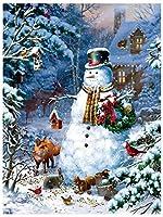 ジグソーパズルは、子供と大人のための1000年の小品雪だるまや動物の高品質木材クラシック楽しいおもちゃカジュアルパズルゲーム組立パズルゲーム