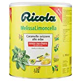 Ricola, Caramelle Balsamiche alle Erbe, Senza Zucchero, Gusto Melissa Limoncella - Barattolo da 1kg
