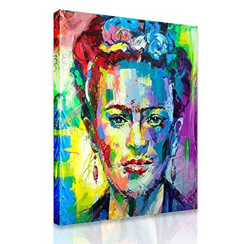 Frida Kahlo-Plakat-Druck Moderne Weinlese-Porträt-Leinwand Malerei Bild Wand-Kunstdruck Auf Leinwand-Hauptdekor Für Wohnzimmer, Schlafzimmer, Rahmenlos,60×80cm