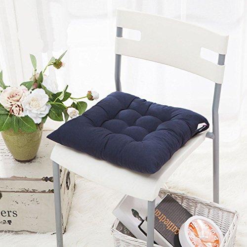 Huplue - Coussins de chaise carrés colorés pour la maison, le bureau, l'intérieur, le jardin, la terrasse