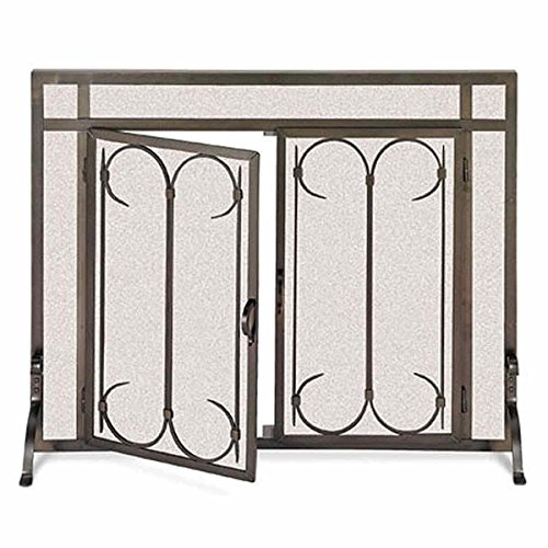 Check Out This Pilgrim Iron Gate Fireplace Screen - Burnished Black