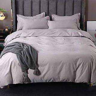 King Size, Bedding Set of 6 Pieces, Plain Grey