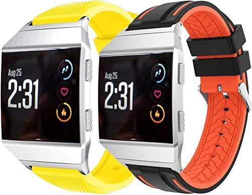 Simpleas Correa de Reloj Compatible con Fitbit Ionic, Impermeable Reemplazo Correas Reloj Silicona Banda (2PCS A)