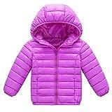 Giacca Bambino Topgrowth Cappotto con Cappuccio Bambina Giacche Piumino Manica Lunga Leggero Jacket con Zip Autunno Inverno Caldo Unisex Ragazzo Giubbino