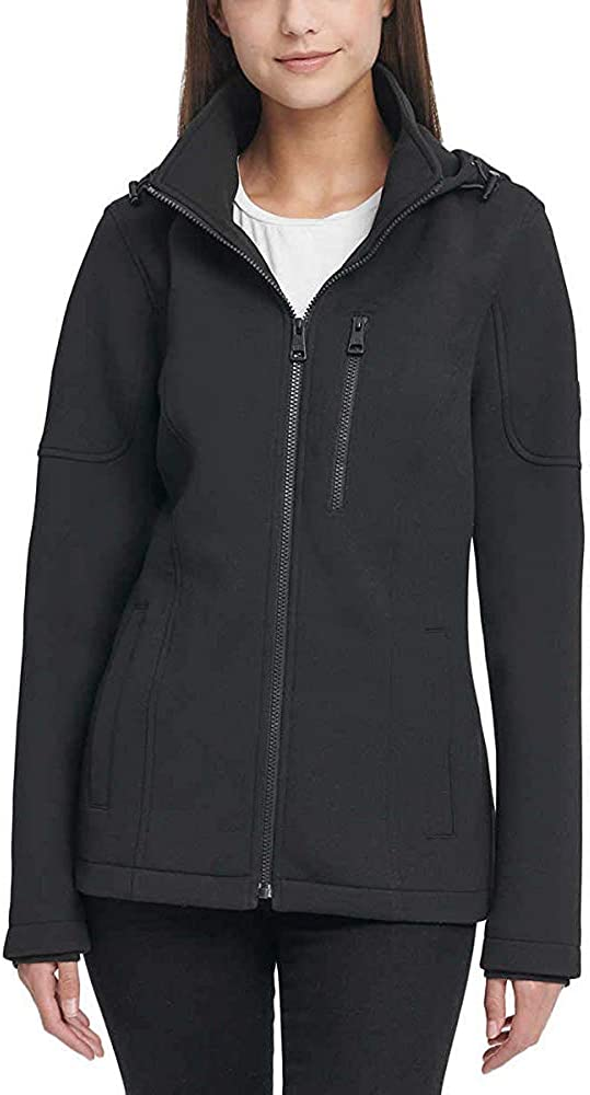 Andrew Marc Ladies' Removable Hood Scuba Jacket Pocket Breast Sales for sale Recommendation