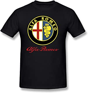 Men's T-Shirts Alfa Romeo Car Short Sleeve Tee Shirts,100% Cotton