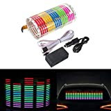 DIYAH Auto Sound Music Beat Activated Car Stickers Equalizer Glow LED Light Audio Voice Rhythm Lamp 70cm X 16cm / 27.5in X 6.3in (Multi Color)