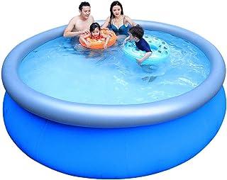 ARTF Familia grande Ronda piscina inflable, inflable Kiddie piscinas, Inflable Anillo superior Piscinas al aire libre del patio trasero del jardín Easy Set Blow Up piscinas for niños y adluts, dar una