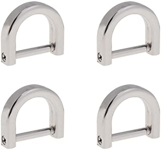 Artibetter anillos en D atornillar grillete en forma de u herradura anillo en D diy artesanía de cuero monedero llavero ac...