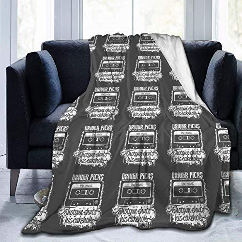 uytrgh Manta de Franela, Conductor Sobrenatural Elige la música, Mantas acogedoras con Borde Cosido, Alfombra térmica portátil de Felpa para sofá Cama, 60 x 50 Pulgadas