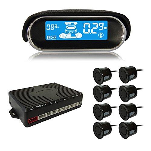 Schermo per supporto al parcheggio Beneglow® Dual-Core Display LCD anteriore e posteriore per auto per retromarcia Radar System con sensori di parcheggio