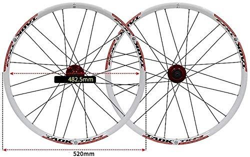 Ruedas De Bicicleta,llantas bicicleta Moto sistema de rueda de 24' neumáticos de las ruedas MTB de doble pared de llantas de aluminio 1,5-2,1' 24H freno de disco 7-11 velocidad Palin eje del lanzamien