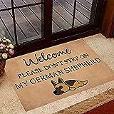 TIANTURNM Felpudo Interior para Puerta Bienvenido, por Favor, no pise mi Felpudo Pastor alemán Felpudo para Perros Regalos para dueños de Perros hogar Regalo inauguración casa 24'x36'