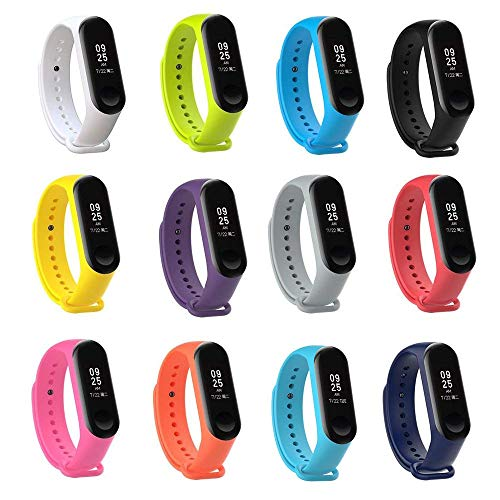 Tkasing mi Band 4 Strap,Band for Xiaomi 3/Xiaomi 4 Smartwatch Wristbands Replacement Accessories Straps Bracelets for Mi Band 4 Strap (Not for Mi1/2)