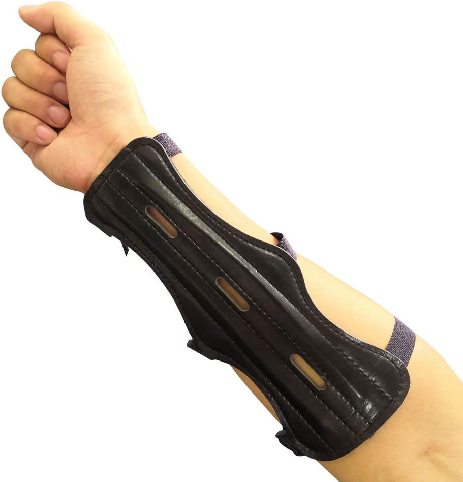 MILAEM Armschutz und Finger Tabs Set Armsch/ützer Fingerschutz Verstellbarer Lederarmschutz f/ür die Recurve Bogen Langbogen Bogenschie/ßen Jagd