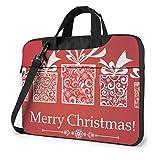 パソコンケース Pc バッグ ノートパソコンケースクリスマス 赤 プレゼント リボン 節分パソコンバッグ Pc バッグ ブリーフケース ショルダーストラップ付き 13 14 15.6 インチ 保護ケース 耐衝撃 防水 軽量 多機能