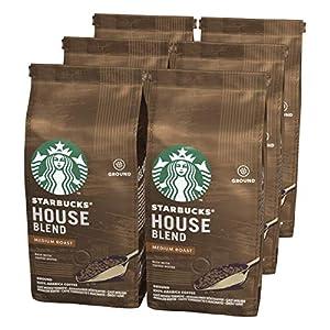 Starbucks 12411318 House Blend Café Molido de Tostado Medio, 6 Bolsa de 200 g