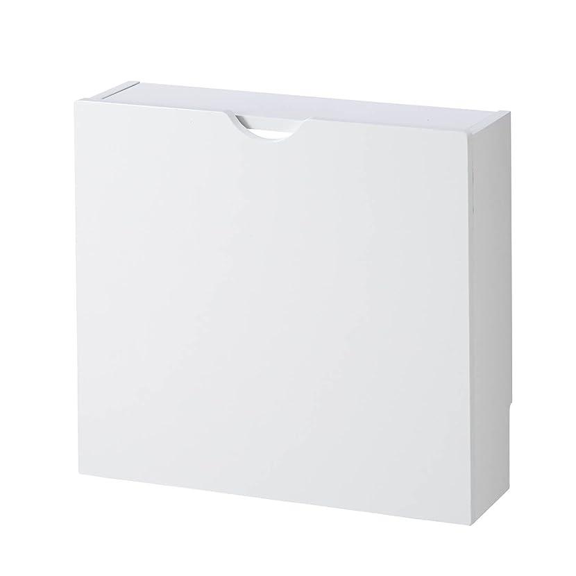 粗いシンジケートキュービック[ベルメゾン] ルーター 収納 ボックス 薄型 ホワイト ワイド