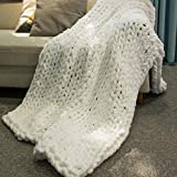 Inshere Luxury Chunky Knit Blanket (48'x60')-Large Weighted Knitted Soft Cozy Throw Blanket for Couch, Bed, Sofa, Home Decor, Gift