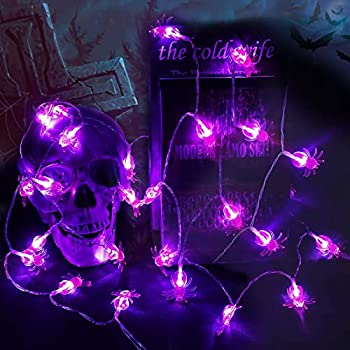 2-Pack Kazoku Halloween Decorations Spider Lights (10.5Ft)