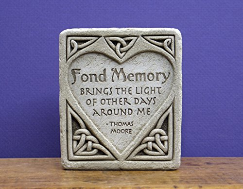 Carruth Studio, Fond Memory Wall Plaque, Original Sculpture Handcrafted in Stone, Artisan Made