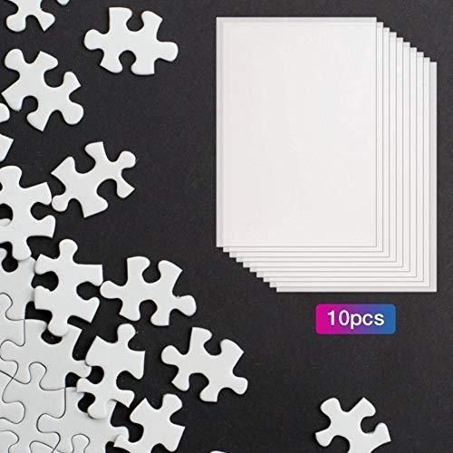 Puzzle-Klebematte - 10PCS Puzzle-Blatt Transparente Ungiftige Klebende Trägerblätter. Verwenden Sie 4 Puzzle-Klebeblätter, Um Das 1000PCS-Spiele-Puzzle Zu Reparieren