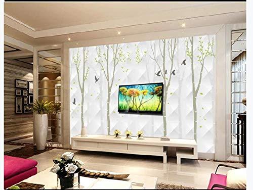 Tijdelijk behang muur kunst Stickers muur stickers onder geheugen grote TV achtergrond muur papier muurschildering hout sjabloon 3D Wallpaper 250cmx175cm