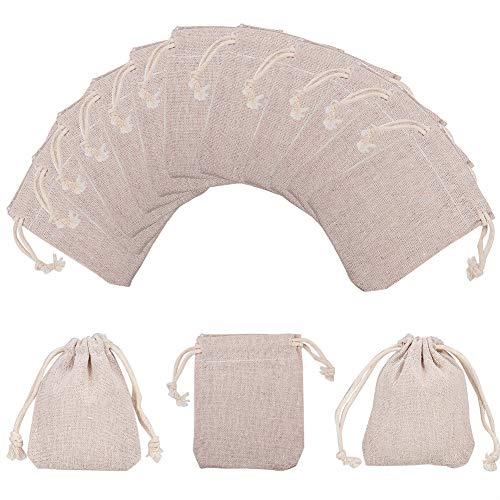 NBEADS 10 Stück Kleine Kordelzug Taschen Beutelchen Schmuck Beutel Geschenkbeutel, 9x8cm