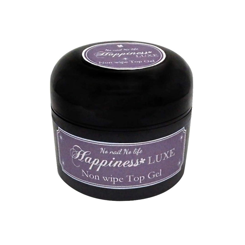 整然とした抱擁ヒューバートハドソンジェルネイル《ストーンアートに最適!》Happiness LUXE ハピネスリュクス セミハード ノンワイプトップジェル (30g)