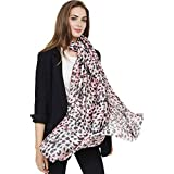 Ms. sauvage foulard automne et hiver de la mode personnalité léopard imprimé foulards chaud écharpe - Rose - 100-135 cm