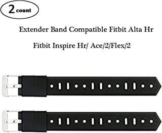 Baaletc Extender Band for Fitbit Flex/2 & Fitbit Alta Fitness Tracker Wristbands - Designed for Larger Size Wrists or Ankle Wear, 14mm (Width) x 115mm (Length), Black