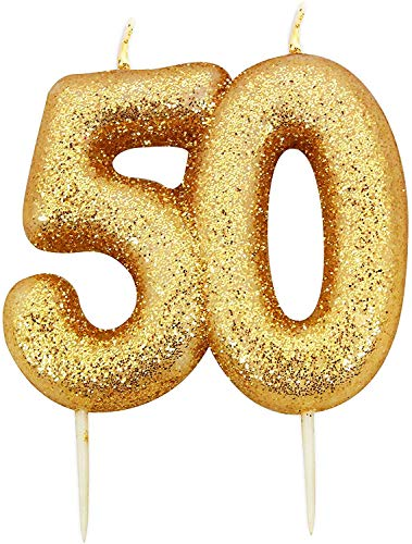Gold Number Candle - 50