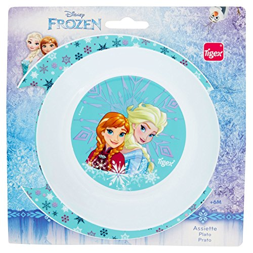 Tigex Assiette Creuse Micro-ondes Motif Reine des Neiges Disney Princesses Elsa/Anna/Frozen