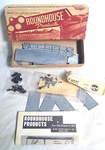 Vintage HO Scale Box Car Train Kit - Quaker Oats Decals - Metal kit