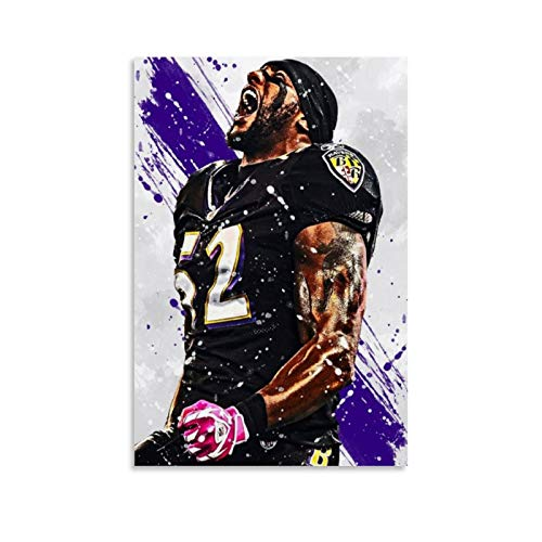 LOPOB Baltimore Ravens Canvas Art Poster and Wall Art Picture Print Modern Family Bedroom Decor Posters 16x24inch(40x60cm)