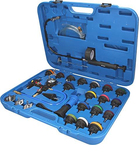 Brilliant Tools BT521150 Kit Universel Diagnostic système de Refroidissement | 27 pcs, Bleu/Noir, 28-TLG