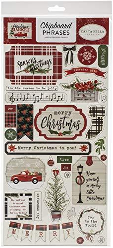 Carta Bella Paper Company CBCM106022 Madera aglomerado, Rojo, Verde, Bronceado, Negro, Color blanco