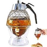 Honey Dispenser No Drip- Syrup Dispenser- Plastic Honey Dispenser -Beautiful Bee Decoration Honey Jar-6.5 oz Honey Syrup Dispenser With Stand