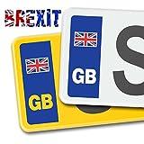 SIGNS247 GB - Pegatinas de Vinilo para Placa de matrícula de Coche, diseño de la Bandera británica