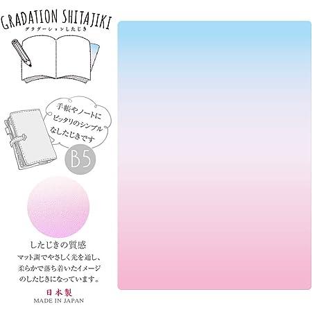 グラデーション下敷 B5 【ブルー~ピンク】 135255 共栄プラスチック GS-B5-01